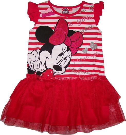85042d04ae46 Šaty Minnie Mouse červenobiele MM26