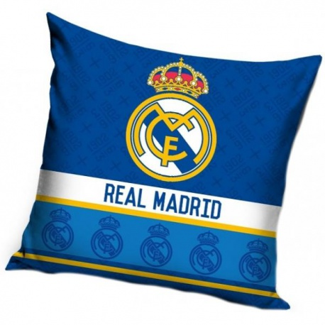 CARBOTEX Obliečka na vankúšik 40/40cm REAL MADRID Blue RM8