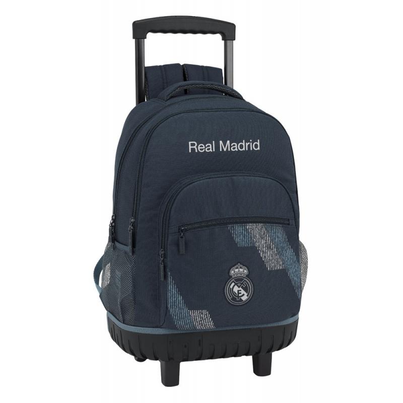 70c59f145b SAFTA Školský batoh na kolieskach REAL MADRID Grey